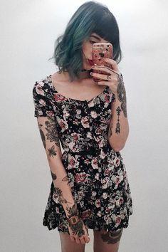 Floral cami dress - #floral #cami #dress #grunge