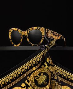 0725236d92  VersaceVersaceVersace Iconic Barocco print meets the  VersaceTribute  sunglasses. Versace Sunglasses