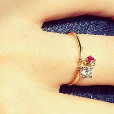 My new Sara Lasry's CUSTOM Toy Ring (diamond + pink ruby lucky charm) www.saralasry.com