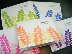 Handmade Thank You Note Cards Set of 5 Eucalyptus by apaperaffaire, $6.50