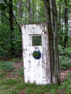 Sandra Perciful's woodsy door