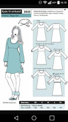 Køb Onion Mønster Kjoler for kr Sewing Hacks, Sewing Crafts, Sewing Projects, Knitting Patterns, Sewing Patterns, Diy Mode, T Shorts, Tunic Pattern, Pattern Drafting