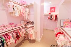 Baby Girls Nursery Interior Design Project With Walk In Pink Closet From A Luxury And White Orange County
