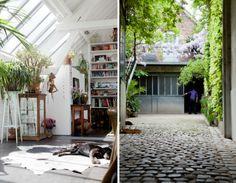 light loft apartment with plants