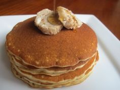 Vanilla Pancakes with Almond Butter