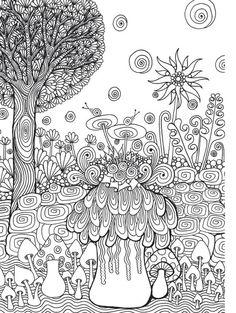 Zen Garden Colouring Book, Zentangle inspired art by Wei Ling