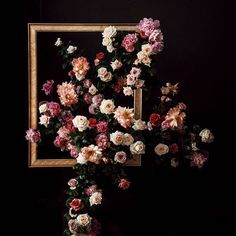 frames with greens flowing out on wall Jewel Tone Wedding, Floral Wedding, Wedding Flowers, Floral Bouquets, Floral Wreath, Floral Backdrop, Arte Floral, Flower Frame, Amazing Flowers