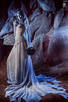Corpse Bride costume!  Emily (That, the Corpse Bride) is supposedly a lot like me.  I should do this for Halloween!