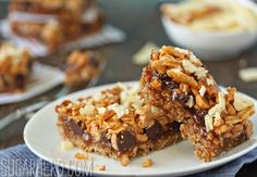 Dude Food Magic Bars | SugarHero.com- salted caramel sauce, pretzels, potato chips, bacon, chocolate chips, peanut butter chips!
