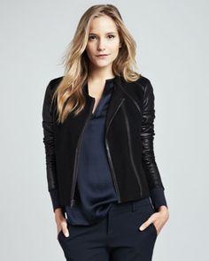 Vince | Leather Jacket, Black - CUSP