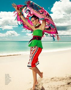 Barbara Fiahlo Models Beach Style for Harper's Bazaar Mexico by Danny Cardozo | Fashion Gone Rogue: The Latest in Editorials and Campaigns
