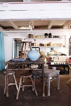 this could be my craft room in an outbuilding!