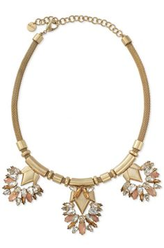 Fans of neutral sparkle will love this Pink & Beige Statement Necklace in Gold | Helena Necklace by Stella Dot http://www.stelladot.co.uk/shop/en_gb/whats-new/new-arrivals?s=ClareWatkins