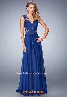 La Femme Chiffon A Line Dress 21921