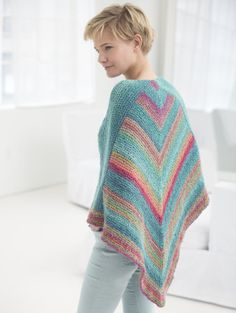 fa5bb3fe6f5a2a Triangle Shawl - knitted with Lion Brand Textures - free pattern Free  Knitting