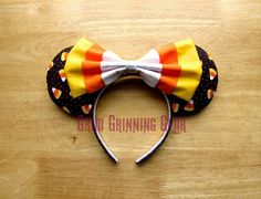 Halloween Minnie Mouse Ears- Candy Corn Mouse Ears