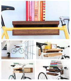 pretty bike storage ~ thinking of Caryl :)