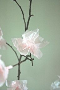 spring window ideals | paper blossoms - great spring window display