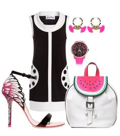 Pop Art Style with Sophia Webster Flamingo Shoes and Watermelon Bag