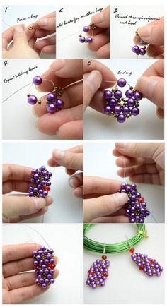 Free Beaded Earrings Tutorial featured in Sova-Enterprises.com Newsletter!