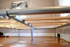 How to Build a Bed Frame: The Easy Way #pipefurniture #bedframe