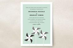 Pinwheels Wedding Invitations by Jill Means at minted.com