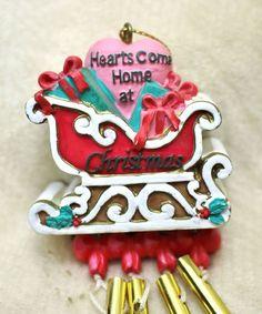 Paula's Dimensional Sled Hearts Come Home at Christmas Wind Chime Windchime #Paula