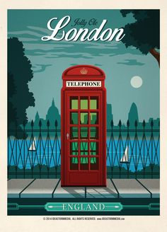 Vintage London Poster by IdeaStorm Media