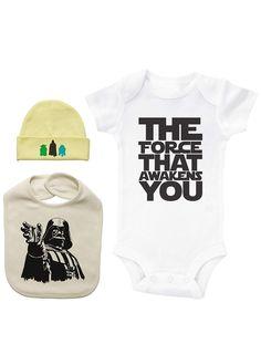 7829ffc752d5 Star Wars Infant Shirt Bib  amp  Hat Set - Unisex 6-9 Month Baby