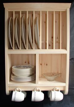 12 best diy plate rack images kitchen dining kitchen storage rh pinterest com