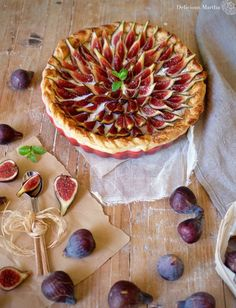 Tarta de higos con mascarpone - Delicious Martha Sweet Life, Cheesecakes, Apple Pie, Vegetable Pizza, Food And Drink, Cooking, Desserts, Recipes, Figs