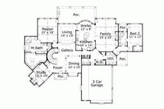 Luxury Style House Plans - 4476 Square Foot Home, 2 Story, 4 Bedroom and 3 3 Bath, 3 Garage Stalls by Monster House Plans - Plan 19-1028
