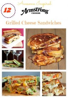12 Awesome Grilled Cheese Recipes for you to try today! Gourmet is a great way to enjoy these sandwiches!