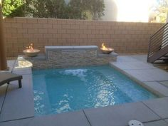 82 Swimming Pool Ideas Small Backyard - Page 10 of 71 Pools For Small Yards, Small Swimming Pools, Swimming Pools Backyard, Swimming Pool Designs, Lap Pools, Indoor Pools, Backyard Pool Designs, Small Backyard Landscaping, Landscaping Ideas