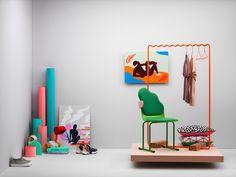 swedish magazine RUM Design. Photo: Niklas Alm Styling: Dennis Valencia Paintings by Sara Andreasson.