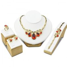 Faux Ruby Insect Jewelry Set Join Sammydress: Get YOUR $50 NOW! with a chance to get it for FREE!!