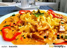 Macaroni And Cheese, Vegetarian, Ethnic Recipes, Food, Red Peppers, Mac And Cheese, Essen, Meals, Yemek