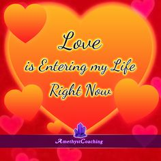 Today's Affirmation: Love Is Entering My Life Right Now <3 #affirmation #coaching It is not enough just to repeat words, while repeating the affirmation, feel and believe that the situation is already real. This will put more energy into the affirmation.