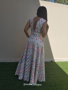 20 Ankara Maxi Gown to wear for anytime - Reny styles African Maxi Dresses, Maxi Gowns, African Attire, African Wear, African Print Fashion, Africa Fashion, African Traditional Dresses, Traditional Outfits, Smart Dress