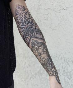 Number 6 at more on hollys arm. Bad Apple Tattoo, Barber Tattoo, Black Work, Sleeve Tattoos, Tatoos, Henna, Tatting, Body Art, Tattoo Ideas