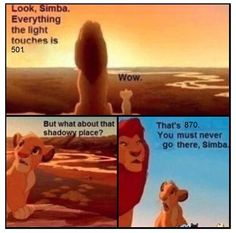 You must never go there, Simba.