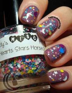 ThePolishHoochie: Some Lucky Charms! Zoya Odette with Trelly's MISC Hearts Stars Horseshoes layered on tiop! Girly Girls, Horseshoes, Lucky Charm, My Nails, Cool Girl, Charms, Nail Polish, Top, Manicure