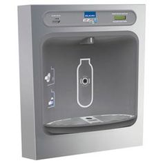 elkay lzwssm surface mount bottle filling station with hands free operatio stainless steel drinking water solutions bottle filling station non