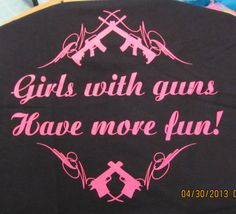 Girls with Guns TShirt by AIRBRUSHTEXAS on Etsy, $15.00