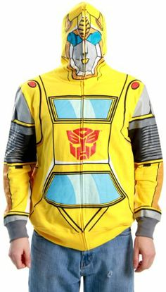 Transformers Autobot Bumblebee Adult Yellow Costume Hoodie Sweatshirt (Adult Small) $29.99 http://www.amazon.com/dp/B00AFHP6W0/ref=cm_sw_r_pi_dp_Powvsb0KG6PQZW96