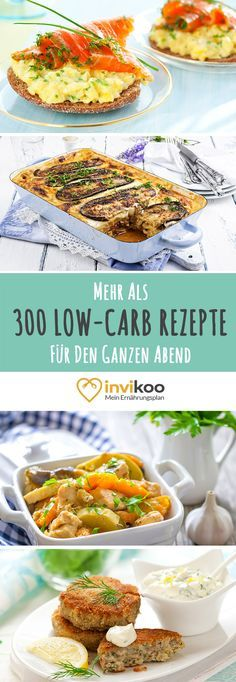 Varied dinner recipes to lose weight with fast preparation - low carb recipes for each day - simple, fast and healthy weight loss with invikoo. Low Carb Recipes, Healthy Recipes, Slim Diet, Dieta Paleo, Le Diner, Paleo Dinner, Dinner Recipes, Evening Meals, Low Carb Diet