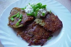Latvian: Potato Pancakes...I'm making these tonight for my husband. His momma used to make them all the time.