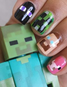 This inspires me because I find nail art quite talented and needing to have lots of patience, something I lack. I also find this pick inspiring because it is minecraft based, a game I spend a lot of my free time playing.
