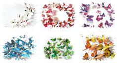 3D barevní motýlci3D barevní motýlciGlass-dekor