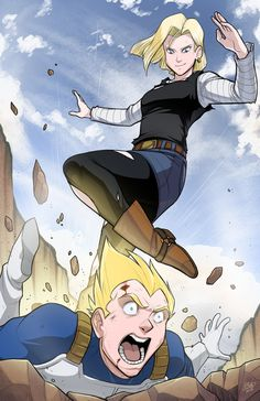 Supernormal Step Tumbles • Decided to do some Dragon Ball Z fan art! 18...